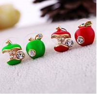 apple earings - Limited Rushed Romantic Zinc Alloy Ball Cotton B046 Lovely Women Water Brick for Apple Earings