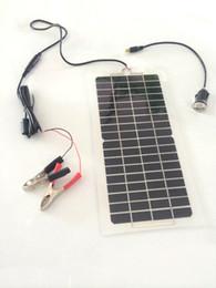 Wholesale semi flexible monocrystalline silicon solar V W cell photovoltaic panels USB
