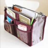 bag organizer insert clear - Women Travel Wash Bag Insert Handbag Purse Organizer Storage clear Cosmetic Bag Colors Drop Shipping