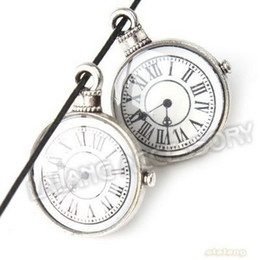 Wholesale New Fashion Pocket Watch Metal Charms Silver Blacken Pendants For Jewelry Making mm