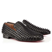 flats - Red Bottom Rollerboy Spikes Mens Flat Shoes All Black United States Size