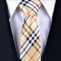 Wholesale fashion skinny neck tie casual narrow Men ties stripes slim neckties men accessories