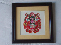 Wholesale Chinese Handicraft Scissor cut Longevity Folk Art Colourful Paper cut Picture Frame