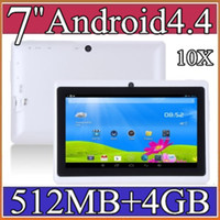 10X 7 pouces Google Android4.4 3000mAh Batterie Tablet PC WiFi Quad Core 1,5 GHz 512 Mo 4 Go Q88 Allwinner A33 7