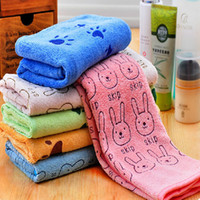 Wholesale Soft Lovely Cartoon Pets Dog Cat Puppy Super Absorbent Towel Dry Hair Super Large New