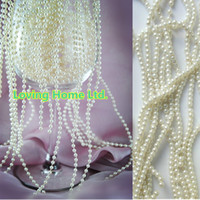 garland christmas - 20 Meters mm Ivory Pearl Strands Garland Spool Bridal Beads For Wedding Christmas Party Centerpiece String Favor Craft Decor