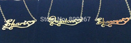Wholesale-FREE Shipping Gold Plated Over Silver Cheap Personalized Name Necklaces