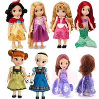 Wholesale Princess Animators Sharon Doll Princess Sofia Snow White Ariel Rapunzel Merida Cinderella Aurora Belle Princess dolls for Girl