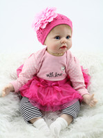 """Cheap Wholesale-Big Handmade Doll For Kids 22"""" 55cm Realistic Soft Silicone Reborn Baby Dolls"""