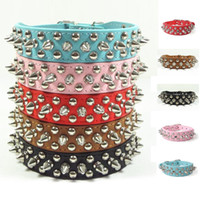 dog harness - Pet Dog Collar Adjustable Harness Sassy Spiked Studded Faux Leather XS S M L