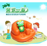 bath backrest - Thickened infant inflatable sofa baby seat chair multifunction portable security science bath stool seat backrest swimming sofa