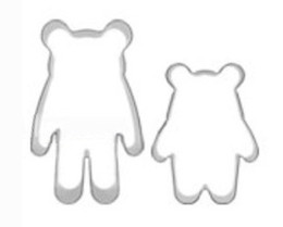 Wholesale NEW Baby and mother Polka Dot Bear set cutter metal Cookie cuttersDIY barking tools