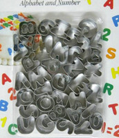 alphabet cutter for fondant - New Cake Fondant Alphabet and Number Cookies Cutter for brithday and blessing set CT196