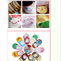 baby rims - Kid Baby Cartoon Cute Lace Rim Cotton Absorb Sweat Socks Ankle Indoor Socks