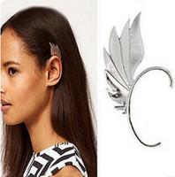Wholesale pc european trendy womens punk gold silver plated metal elves wing ear earings piercing ear clip earrings jewelry brincos