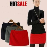 basic boots - 2015 Autumn and Winter Woolen Basic Short Skirts For Women Many Colors wool Mini boots Skirt Lady Slim Hip Classic Fashion W3327
