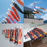 Cheap Japanese Style Colorful Large Koinobori Japanese Carp Wind Sock Koi Nobori Anime Fish Flag