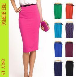 Discount High Waisted Knee Length Pencil Skirts | 2017 High ...