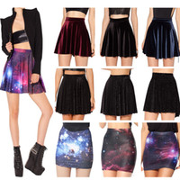 australian milk - fashion Australian design Black Milk skater skirt GALAXY PURPLE print summer short women skirts