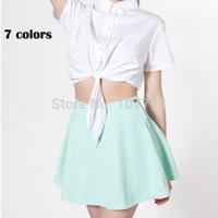 american apparel denim circle skirt - Lacegirl s women new fashion saia american apparel corduroy circle denim Casual Solid high waist skirt female xs s m l A