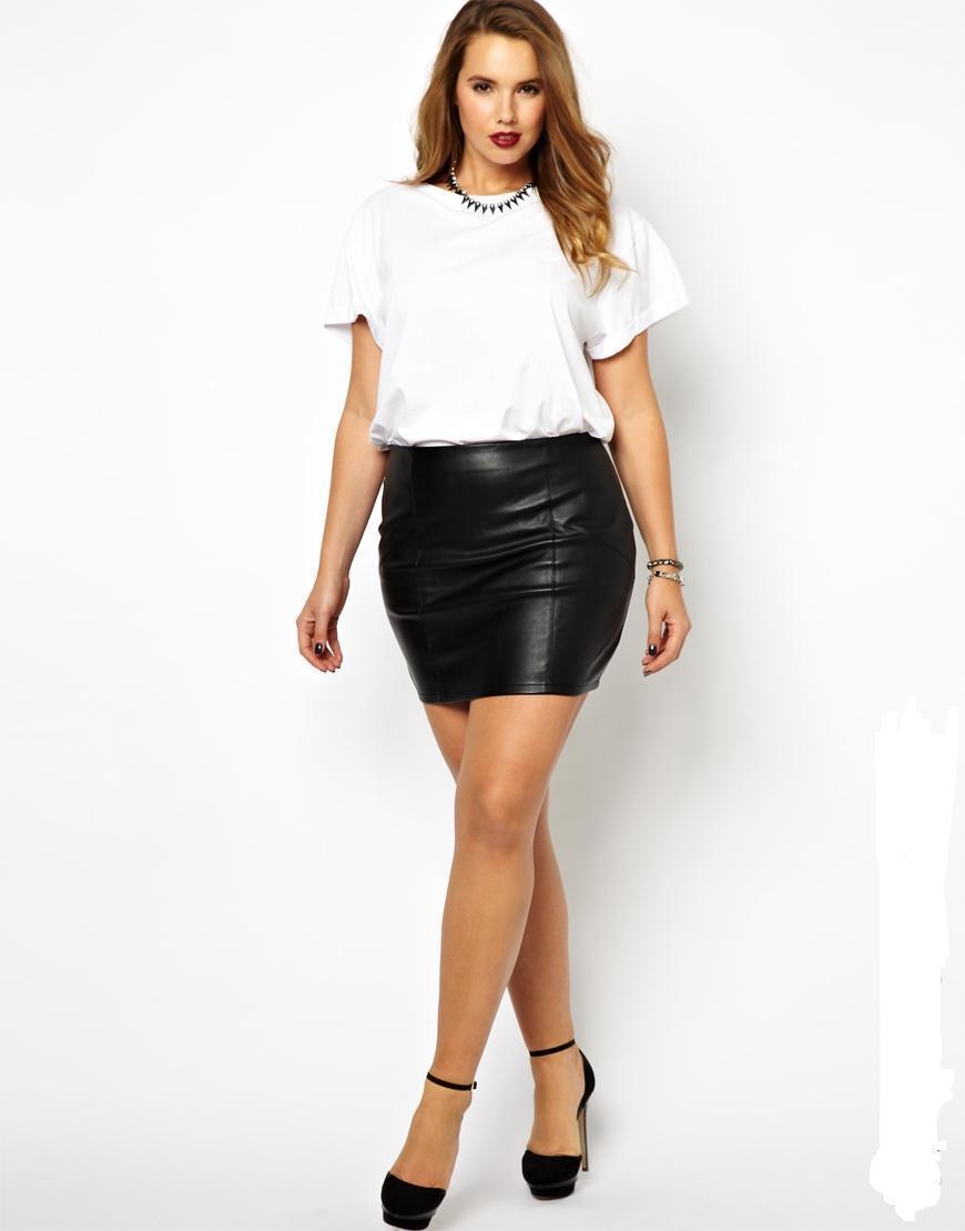 2017 New Fashions Womens Sexy Pu Mini Skirt Plus Size Skirt With ...