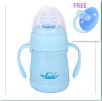 Wholesale Avent ML Stainless Steel Feeding Bottle Baby Bottle With Straw Baby s Hours Insulation Feeding Bottle Nursing Milk