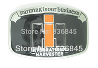 Wholesale Farmall IH black tractor belt buckle