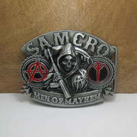 Wholesale BuckleHome Sons of anarch belt buckle with pewter finish FP brand new condition with continous stock