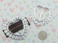love chair - Heart Love Ribbon Chair Sash Slider Acrylic Buckle Wedding Favor wedding invitation card mm x mm
