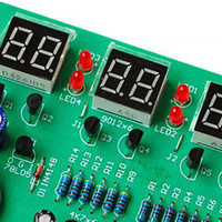 electronic clock timer - New High Quality DIY Kit Module V V AT89C2051 Digital LED Electronic Clock Parts Components