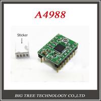 Cheap Wholesale-1pcs A4988 Stepper Motor Driver 3D Printer driver Module Reprap board with 1pcs Heatsink