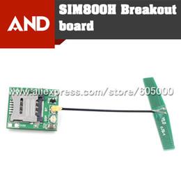 Wholesale Mini Cellular GSM Breakout board SIM800H Breakout Board mini Bluetooth module matching GSM and Bluetooth antenna