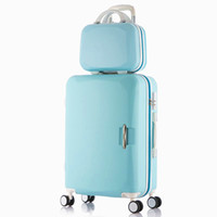 Wholesale New Brand Female Male ABS Spinner Wheels Boarding Suitcase Luggage Travel Case Set and Inches Luggage Sets