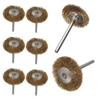 Wholesale 1 pc Hot Sell Smaller Wire Brass Brush Brushes Wheel Dremel Accessories for Rotary Tools