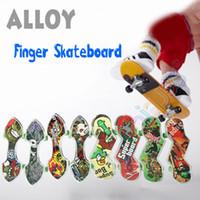 finger skate board - Mini Alloy Finger Skateboard Games Kids Fingerboard Tech Skate Board Scooter Outdoor Fun Sports Novelty Gag Toys Deck