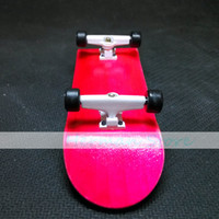 bagged trucks - ICANX Professional Wooden Red Board White Trucks Mini Finger Skateboard Bearing Wheels Fingerboard With Tool Bag FS002