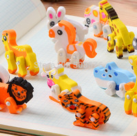 animal shaped erasers - Wholesales Cute animal shape correction eraser pretty kawaii cartoon rubber kids gifts school amp office supplies