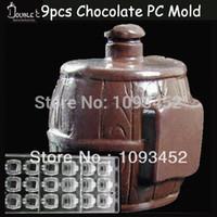barrel mold - 3x3 x3cmx9cups Barrel Shape Chocolate Clear Polycarbonate Plastic Mold DIY Handmade Chocolate PC Mold Chocolate Tools Quality
