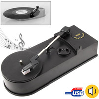 audio usb turntable - USB Mini Phonograph Turntable Vinyl Turntables Audio Player Turntable Convert LP Record to CD MP3 Player