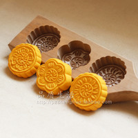 bean pies - cooking tools Pumpkin pie mung bean cake moon cake steamed bread wooden pasta pastry baking mold