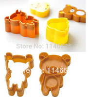 Wholesale Hot sale Japan cartoon Easy bear rice cookies mould egg rice moulds bento box