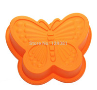 baby cake pan - Small butterfly silica gel cake mold cheese cake mould baby pudding mold Baking tools Cake pan Cake Cup