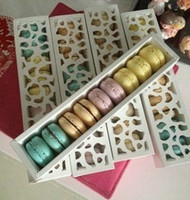 Wholesale White long design cutout valentine s day chocolate macaron box biscuit packaging box mug up candy box