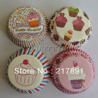 baby show decorations - Happy Birthday Cupcake Decoration Baking Cups Cupcake Liners baby show Muffin Cases party use mix designs