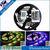Wholesale Led Strip SMD M Fiexible tira LED light Key IR Remote Controller Led RGB Tape Home decoration rgb led Strip