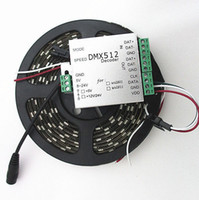 Wholesale 4M WS2812B Pixels m IP65 WS2811 IC built in RGB LED Digital Strip DC5V amp DMX Controller
