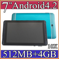 Wholesale 10x cheap inch G Phablet Android MTK6572 Dual Core GB Dual SIM GPS Phone Call WIFI Tablet PC With Bluetooth EBOOK PB