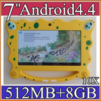 Wholesale 10x inch children kids tablet pc A33 Quad core Cortex A7 GHz MB RAM G ROM Dual cameras webcame android child PB