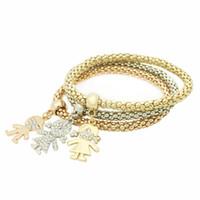 Vente en gros GUST bijoux de marque Cristal Vintage Cristal Garçon Fille Kid Elastique Multi Strand Bracelets Bracelets Vêtements Accessoires B74