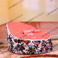 baby bags online - kids bean bags online pouffe cover with animal foot prints baby bean bag via China post air mail without filling